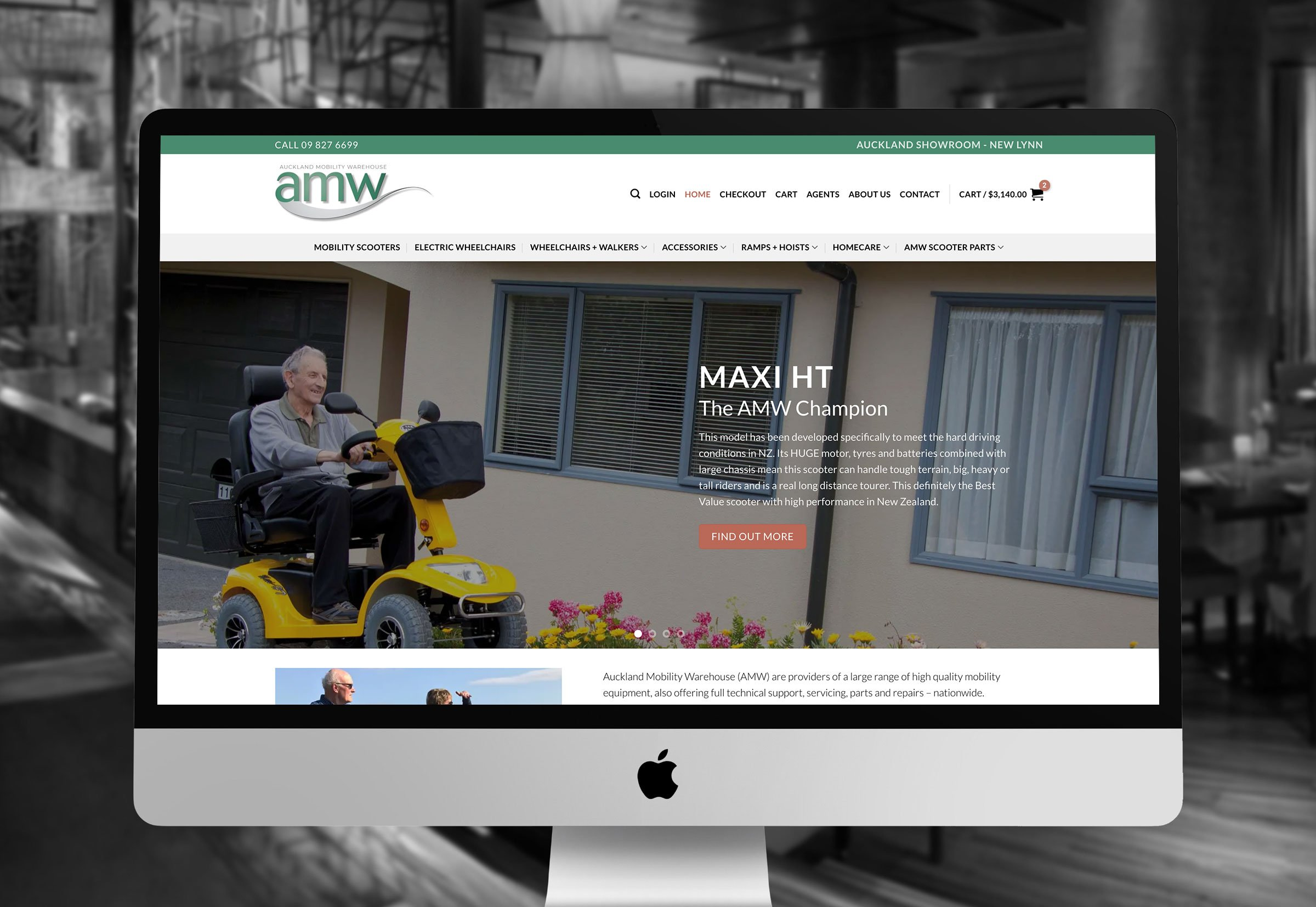 AMW - Auckland Mobility Warehouse Website Design and Build